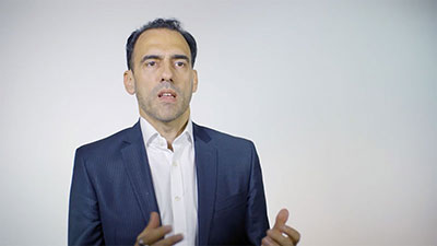 Claudio Di Nella, Head of VCA Europe, shown in a still from a video about opportunities in open banking.